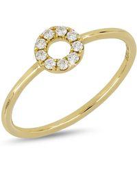 Bony Levy - 18k Yellow Gold Diamond Open Circle Ring - 0.11 Ctw - Lyst