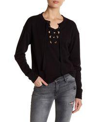 Black Orchid - Lace-up Sweatshirt - Lyst