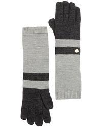Anne Klein - Colorblock Knit Long Glove - Lyst