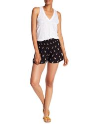 Angie - Pineapple Printed Smocked Waist Shorts - Lyst