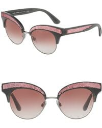 3661ef99438 Lyst - Dolce   Gabbana Women s Dna Cat Eye Acetate Frame Sunglasses ...