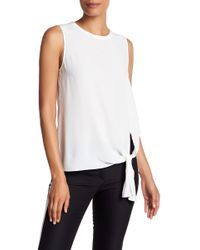 Theory - Serah Front Tie Silk Blouse - Lyst
