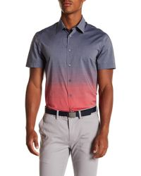 Perry Ellis - Ombre Short Sleeve Regular Fit Shirt - Lyst