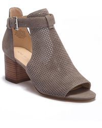 Nine West - Gone With Perforated Suede Bootie - Lyst