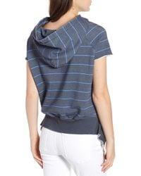 Frank & Eileen - Striped Short-sleeve Pullover Hoodie - Lyst