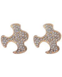 Paige Novick | Gabriel Pave Puzzle Piece Stud Earrings | Lyst