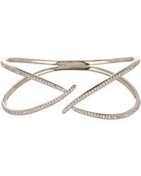 Nadri - Wisp Pave Crystal Crisscross Hinge Bracelet - Lyst