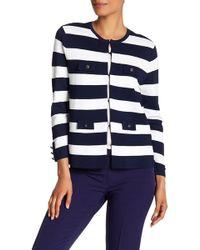 Anne Klein - Striped Jumper Jacket - Lyst