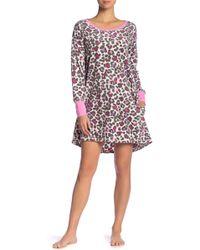 Hue - Leopard Fleece Sleep Shirt - Lyst