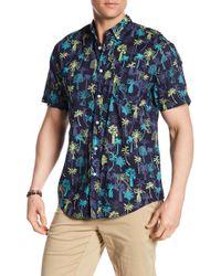 TRUNKS SURF AND SWIM CO - Palm Tree Print Shirt - Lyst