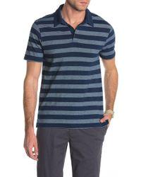 Wallin & Bros. - Colorblock Stripe Short Sleeve Polo - Lyst