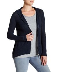 Subtle Luxury - Cashmere Fit & Flare Zip Up Hoodie - Lyst