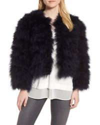 Chelsea28 - Crop Feather Jacket - Lyst
