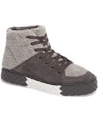Kendall + Kylie - Rebel Faux Shearling Sneaker - Lyst