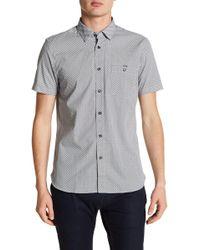 Ted Baker - Silamor Short Sleeve Geo Print Trim Fit Shirt - Lyst