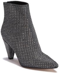 Steve Madden - Jules Embellished Pointed Toe Ankle Boot - Lyst