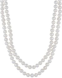 Splendid - 7-8mm White Freshwater Pearl Endless Necklace - Lyst
