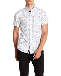 Report Collection - Geo Paisley Short Sleeve Slim Fit Shirt - Lyst
