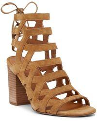 Sarto - Connie Block Heel Cage Sandal - Lyst