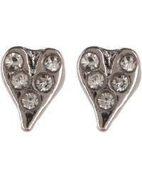 Rebecca Minkoff - Baby Heart Stud Earrings - Lyst