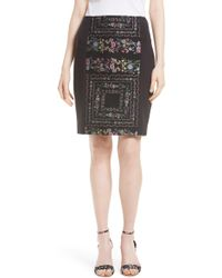 Ted Baker - Annasa Floral Embroidered Pencil Skirt - Lyst