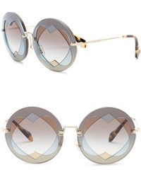 2db226ed79 Miu Miu - 62mm Round Heart Lens Sunglasses - Lyst