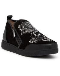 Donald J Pliner - Myla Embellished Suede Sneaker - Lyst
