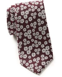 Ben Sherman Mitchel Floral Silk Tie - Multicolor