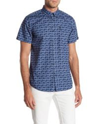 Ben Sherman - Fractured Gingham Short Sleeve Regular Fit Shirt - Lyst