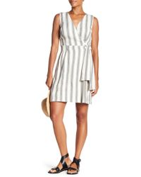 c29b3c00fab5 Eva Franco - Caroline Print Faux Wrap Dress - Lyst