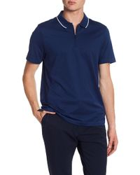 Perry Ellis - Zip Front Polo Shirt - Lyst