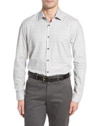 Robert Barakett - Cecil Print Flannel Sport Shirt - Lyst