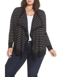 Sejour - Button-up Waterfall Cardigan (plus Size) - Lyst