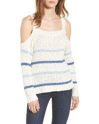 Cupcakes And Cashmere - Cerice Cold Shoulder Sweater - Lyst