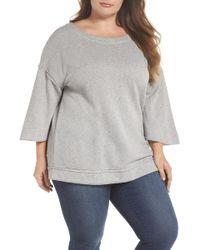 Caslon - Split Sleeve Sweatshirt (plus Size) - Lyst