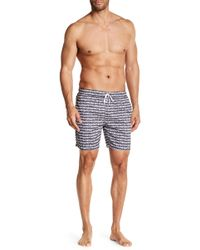 Franks - Chain Print Mid Length Swim Trunks - Lyst