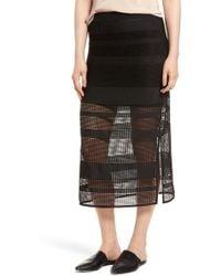 Trouvé - Trouv? Stripe Mesh Skirt - Lyst
