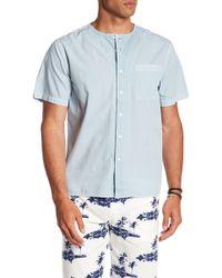 Saturdays NYC - Pontus Short Sleeve Front Button Shirt - Lyst