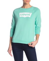 f4efd96a676 Hot Levi s - The Graphic Classic Long Sleeve Logo Crew Neck Tee - Lyst
