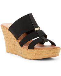 Italian Shoemakers | Elasticized Platform Wedge Sandal | Lyst