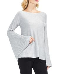 Vince Camuto - Sparkly Bell Sleeve Jumper - Lyst