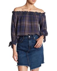 905b133ddd0b61 Lyst - Lauren By Ralph Lauren Floral Ordisty Off Shoulder Top in Black