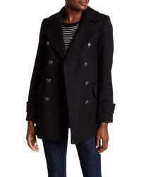 French Connection - Military Peacoat - Lyst