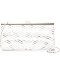 Jessica Mcclintock | Laura Embellished Satin Clutch | Lyst