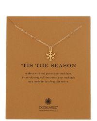 Dogeared - 14k Gold Vermeil Tis The Season Snowflake Charm Necklace - Lyst