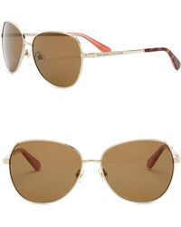 999d033bcf1e Kate Spade - Candida 58mm Rounded Square Sunglasses - Lyst
