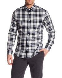 Good Man Brand - Plaid Long Sleeve Trim Fit Shirt - Lyst
