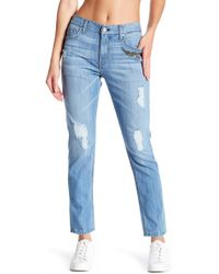 ei8ht dreams - Flower Embroidery Slim Boyfriend Jeans - Lyst