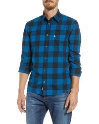 Jack Wills - Salcombe Slim Fit Buffalo Check Sport Shirt - Lyst