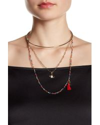 Rebecca Minkoff - Collar Drop Necklace - Lyst